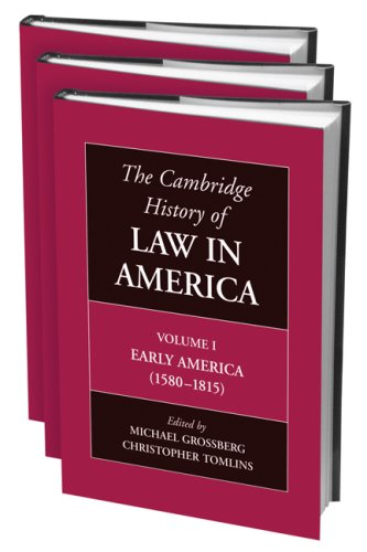 9780521803045: The Cambridge History of Law in America 3 Volume Hardback Set (v. 1-3)