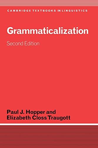9780521804219: Grammaticalization