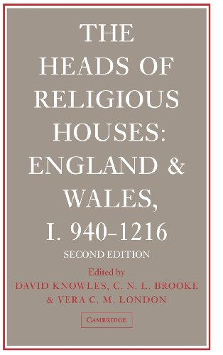Heads of Religious Houses: England & Wales,: ed. David Knowles,