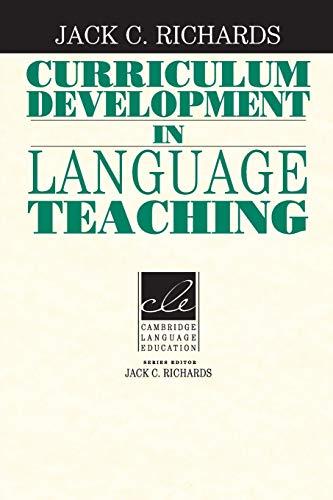 9780521804912: Curriculum Development in Language Teaching (Cambridge Language Education)