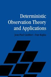 9780521805933: Deterministic Observation Theory and Applications