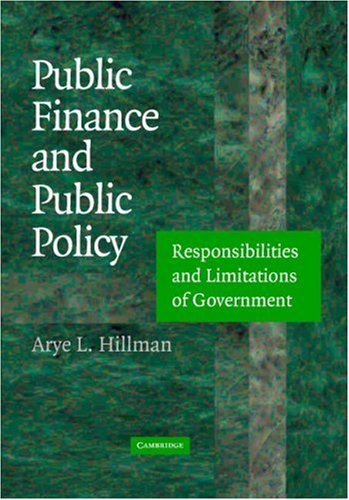 9780521806411: Public Finance and Public Policy: Responsibilities and Limitations of Government