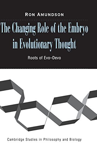 9780521806992: The Changing Role of the Embryo in Evolutionary Thought: Roots of Evo-Devo (Cambridge Studies in Philosophy and Biology)