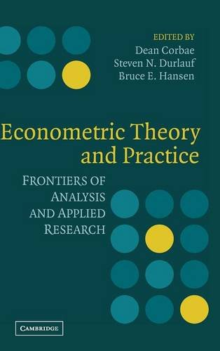 9780521807234: Econometric Theory and Practice: Frontiers of Analysis and Applied Research