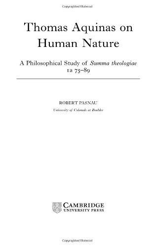 9780521807326: Thomas Aquinas on Human Nature: A Philosophical Study of Summa Theologiae, 1a 75-89