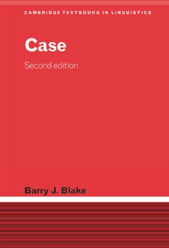 9780521807616: Case (Cambridge Textbooks in Linguistics)