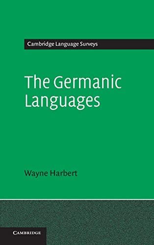 9780521808255: The Germanic Languages (Cambridge Language Surveys)