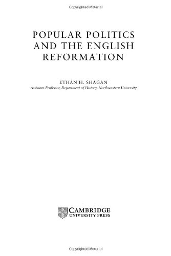 9780521808460: Popular Politics and the English Reformation (Cambridge Studies in Early Modern British History)
