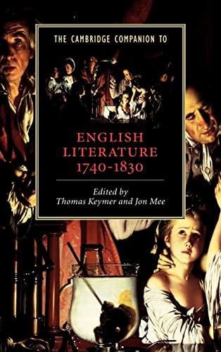 9780521809740: The Cambridge Companion to English Literature, 1740-1830