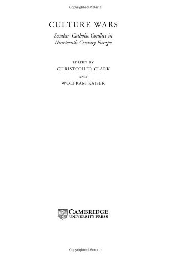 9780521809979: Culture Wars: Secular-Catholic Conflict in Nineteenth-Century Europe