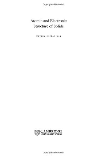 9780521810104: Atomic and Electronic Structure of Solids