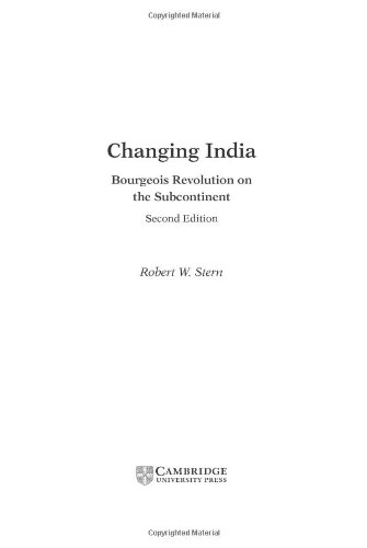 9780521810807: Changing India: Bourgeois Revolution on the Subcontinent