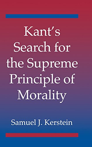9780521810890: Kant's Search for the Supreme Principle of Morality