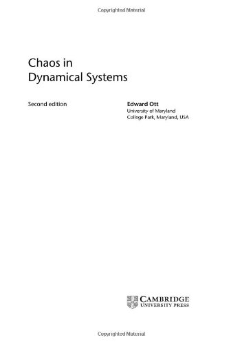9780521811965: Chaos in Dynamical Systems