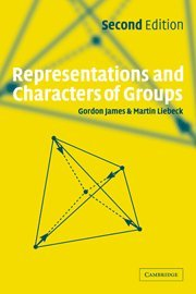 9780521812054: Representations and Characters of Groups