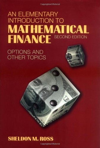 9780521814294: An Elementary Introduction to Mathematical Finance: Options and other Topics