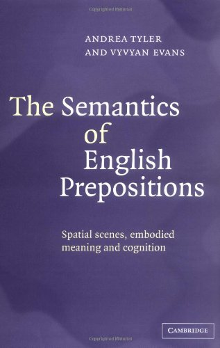 9780521814300: The Semantics of English Prepositions: Spatial Scenes, Embodied Meaning, and Cognition