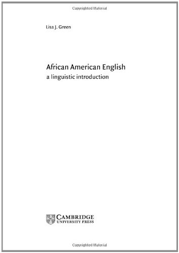 9780521814492: African American English: A Linguistic Introduction