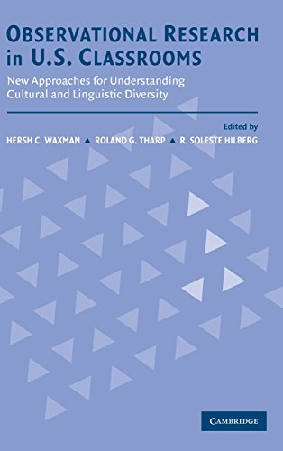 9780521814539: Observational Research in U.S. Classrooms: New Approaches for Understanding Cultural and Linguistic Diversity