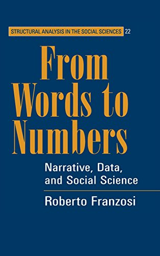 9780521815208: From Words to Numbers: Narrative, Data, and Social Science
