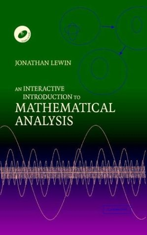 9780521815895: An Interactive Introduction to Mathematical Analysis Hardback with CD-ROM