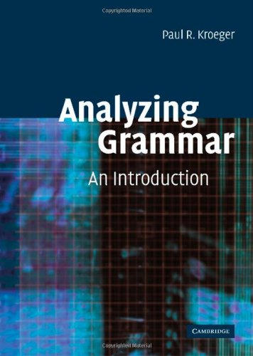 9780521816229: Analyzing Grammar: An Introduction (Cambridge Textbooks in Linguistics)