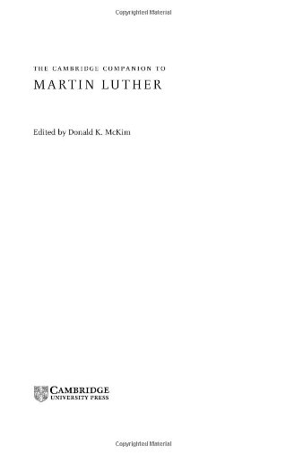 9780521816489: The Cambridge Companion to Martin Luther (Cambridge Companions to Religion)