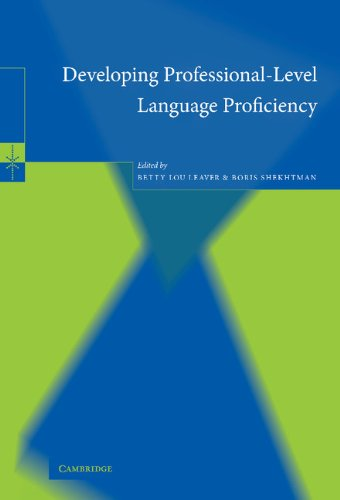 9780521816571: Developing Professional-Level Language Proficiency