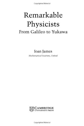 9780521816878: Remarkable Physicists: From Galileo to Yukawa
