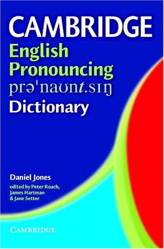 9780521816939: Cambridge English Pronouncing Dictionary