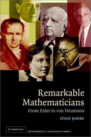 9780521817776: Remarkable Mathematicians: From Euler to von Neumann (Spectrum Series)