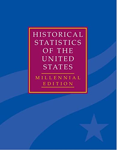 Historical Statistics of the United States: Earliest Times to the Present , Millennial Edition [...