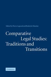 9780521818117: Comparative Legal Studies: Traditions and Transitions