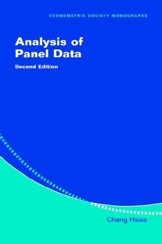 9780521818551: Analysis of Panel Data (Econometric Society Monographs)