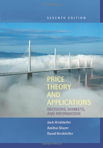 9780521818643: Price Theory and Applications: Decisions, Markets, and Information