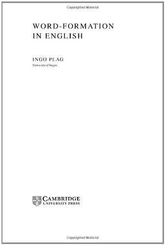 9780521819596: Word-Formation in English Hardback (Cambridge Textbooks in Linguistics)