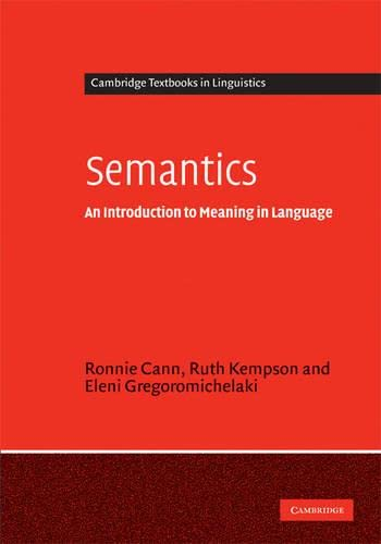 9780521819626: Semantics: An Introduction to Meaning in Language (Cambridge Textbooks in Linguistics)