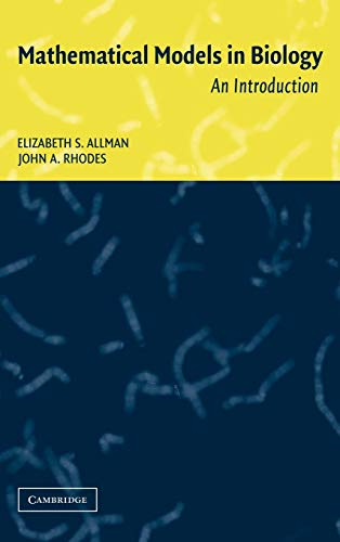 9780521819800: Mathematical Models in Biology: An Introduction