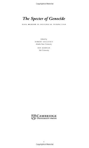 9780521820639: The Specter of Genocide: Mass Murder in Historical Perspective