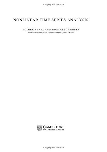 9780521821506: Nonlinear Time Series Analysis