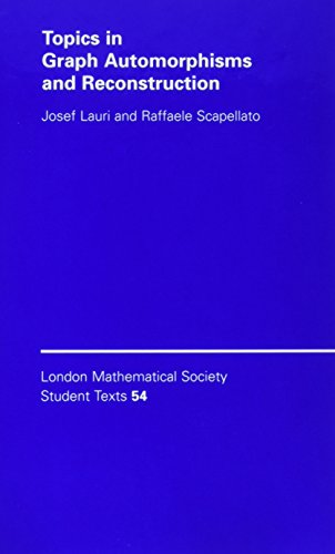 9780521821513: Topics in Graph Automorphisms and Reconstruction (London Mathematical Society Student Texts)