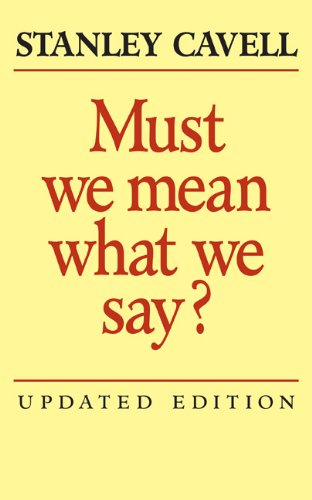 9780521821889: Must We Mean What We Say?: A Book of Essays