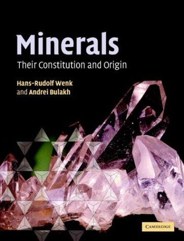 9780521822381: Minerals: Their Constitution and Origin