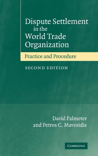 9780521823111: Dispute Settlement in the World Trade Organization: Practice and Procedure
