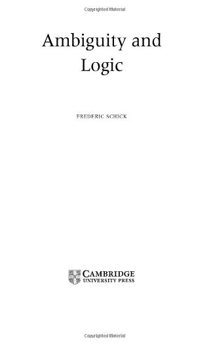 9780521824583: Ambiguity and Logic