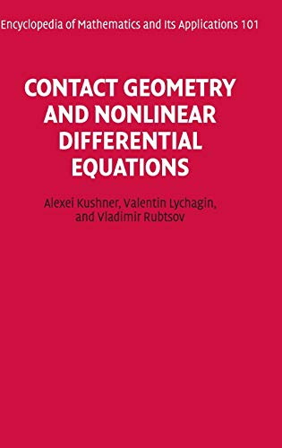 9780521824767: Contact Geometry and Nonlinear Differential Equations Hardback (Encyclopedia of Mathematics and its Applications)