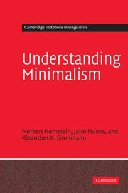 9780521824965: Understanding Minimalism Hardback (Cambridge Textbooks in Linguistics)