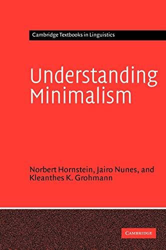 9780521824965: Understanding Minimalism (Cambridge Textbooks in Linguistics)