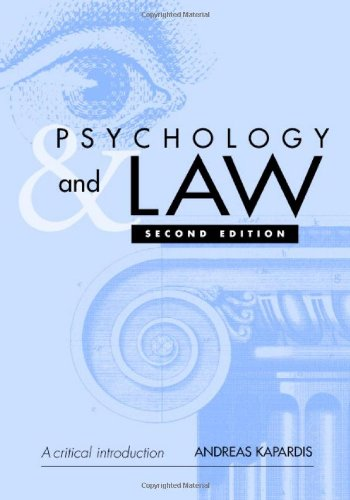 9780521825306: Psychology and Law: A Critical Introduction