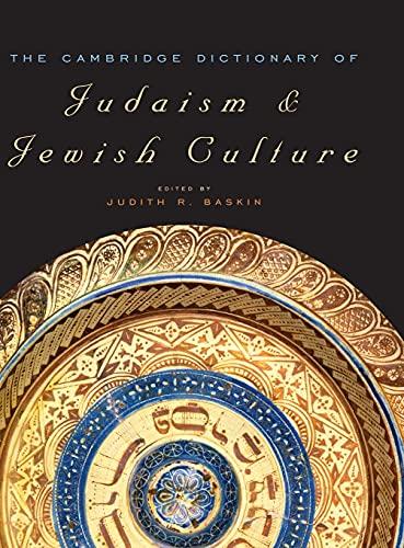 9780521825979: The Cambridge Dictionary of Judaism and Jewish Culture Hardback